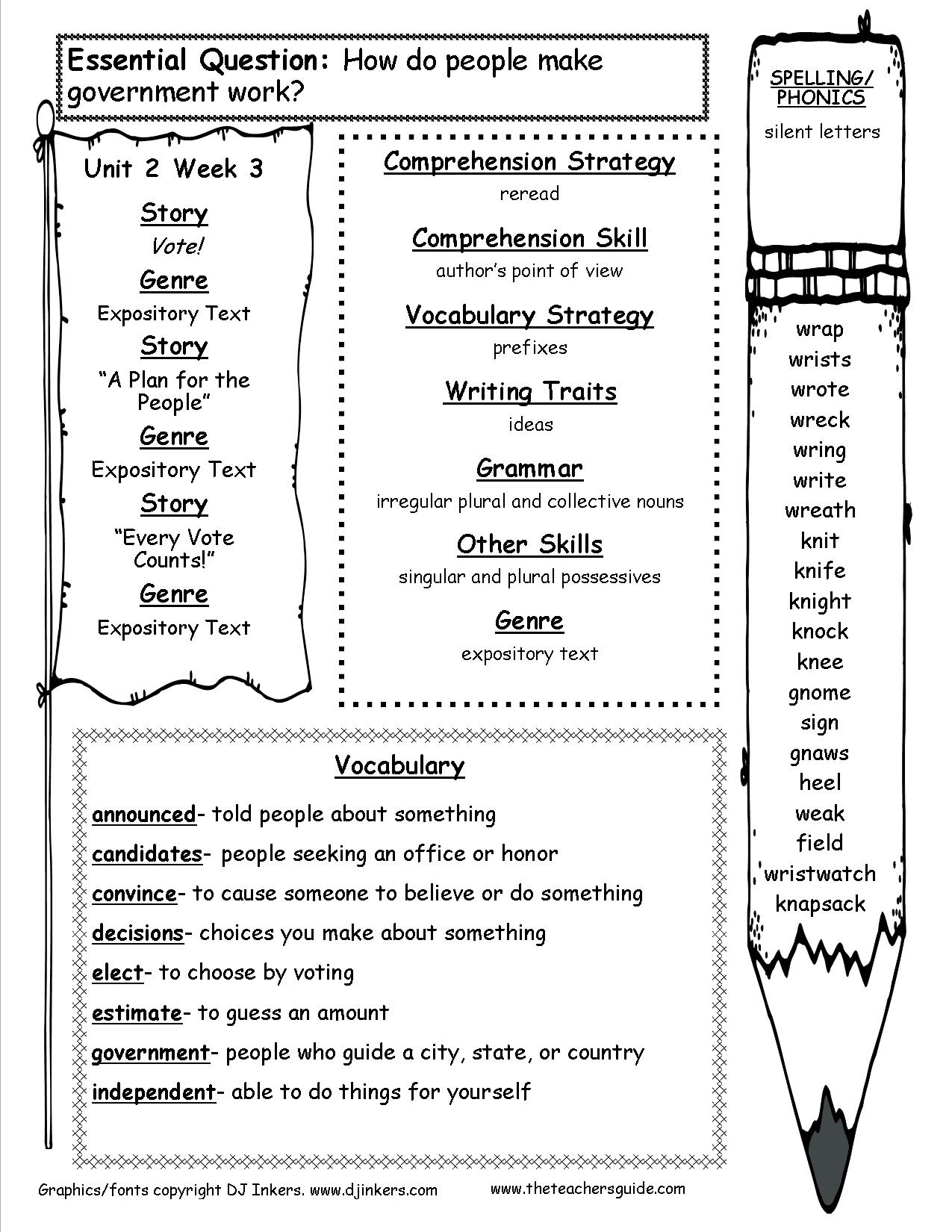 Mcgraw-Hill Wonders Third Grade Resources And Printouts - Printable Puzzles For Third Graders