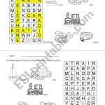 Means Of Transport And Communication Crossword   Esl Worksheet   Printable Communication Crossword Puzzle