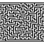 Medium Difficulty Maze Printable Puzzle Game For Free Download   Printable Puzzle Mazes