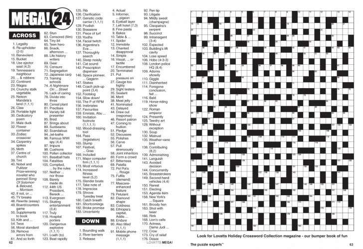 Giant Crossword Puzzle Printable