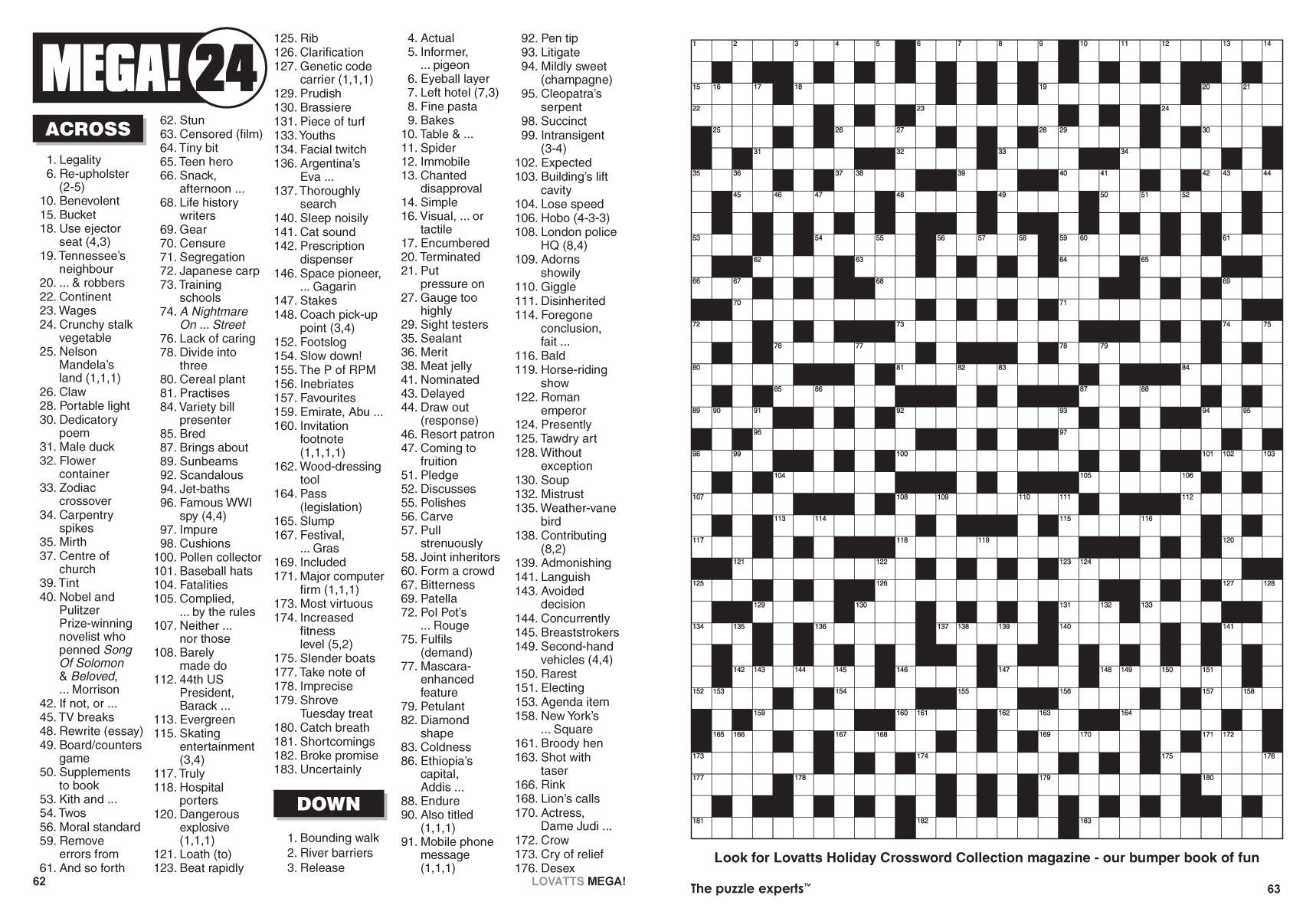 Mega! Crosswords Magazine - Lovatts Crosswords & Puzzles - Giant Crossword Puzzle Printable