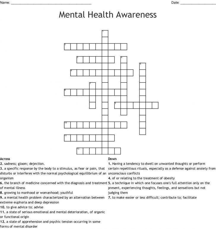 graphic about Numbrix Printable known as cost-free printable crossword puzzles psychological health and fitness Printable