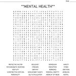 Mental Health** Word Search   Wordmint   Printable Mental Health Crossword Puzzle