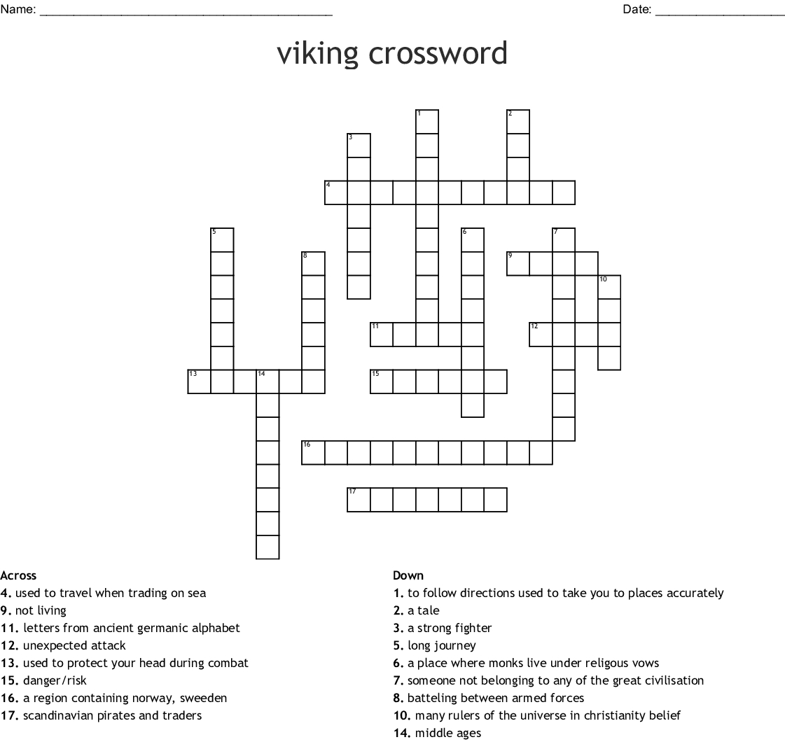 Middle Of The Alphabet Letters Crossword - Photos Alphabet Collections - Printable Viking Crosswords