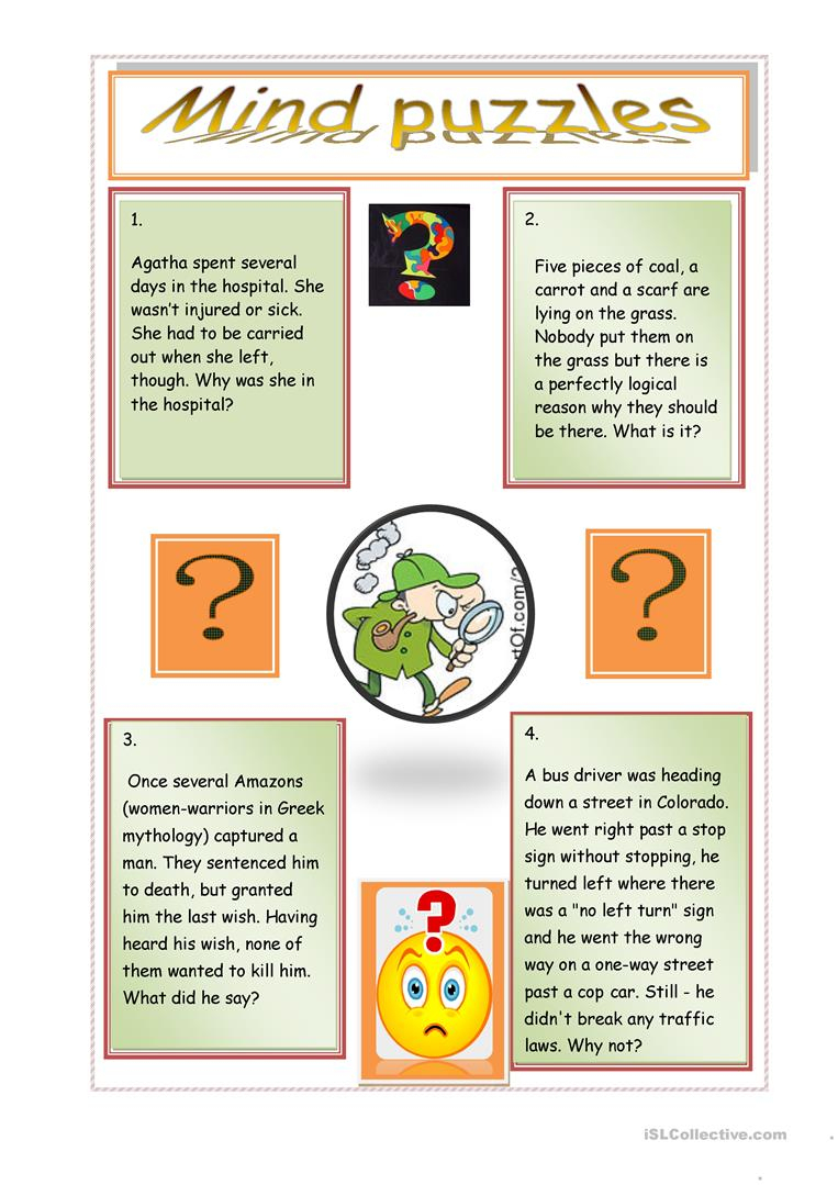 Mind Puzzles Worksheet - Free Esl Printable Worksheets Madeteachers - Printable Lexicon Puzzles