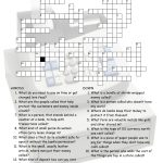 Money Banking Crossword Puzzle Worksheet Esl Fun Games Have Fun!   Printable English Vocabulary Crossword Puzzle