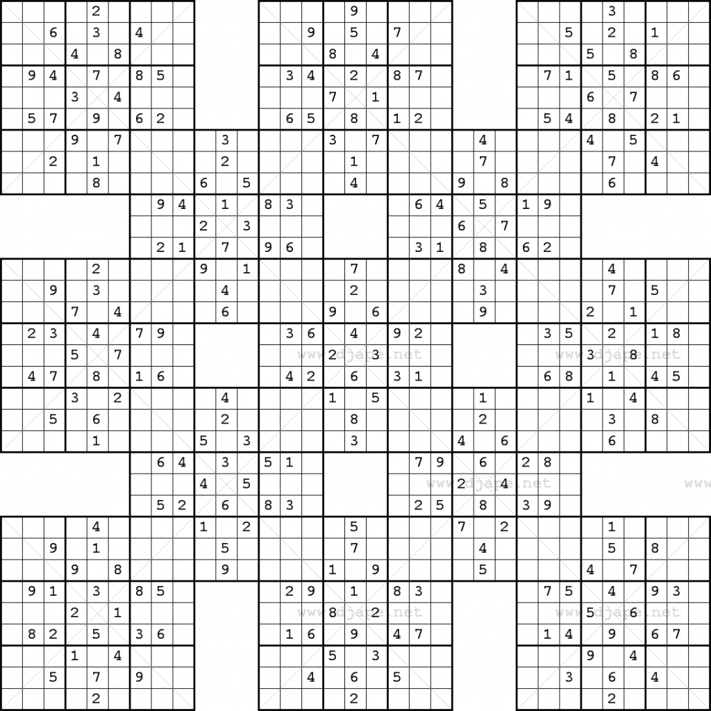 photograph about Printable Sudoku Medium named Monster Sudoku 16X16 Www.topsimages Printable Huge