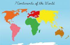 Montessori Puzzle Maps – 7 Continents Of The World | Montessori – 7 Continents Printable Puzzle