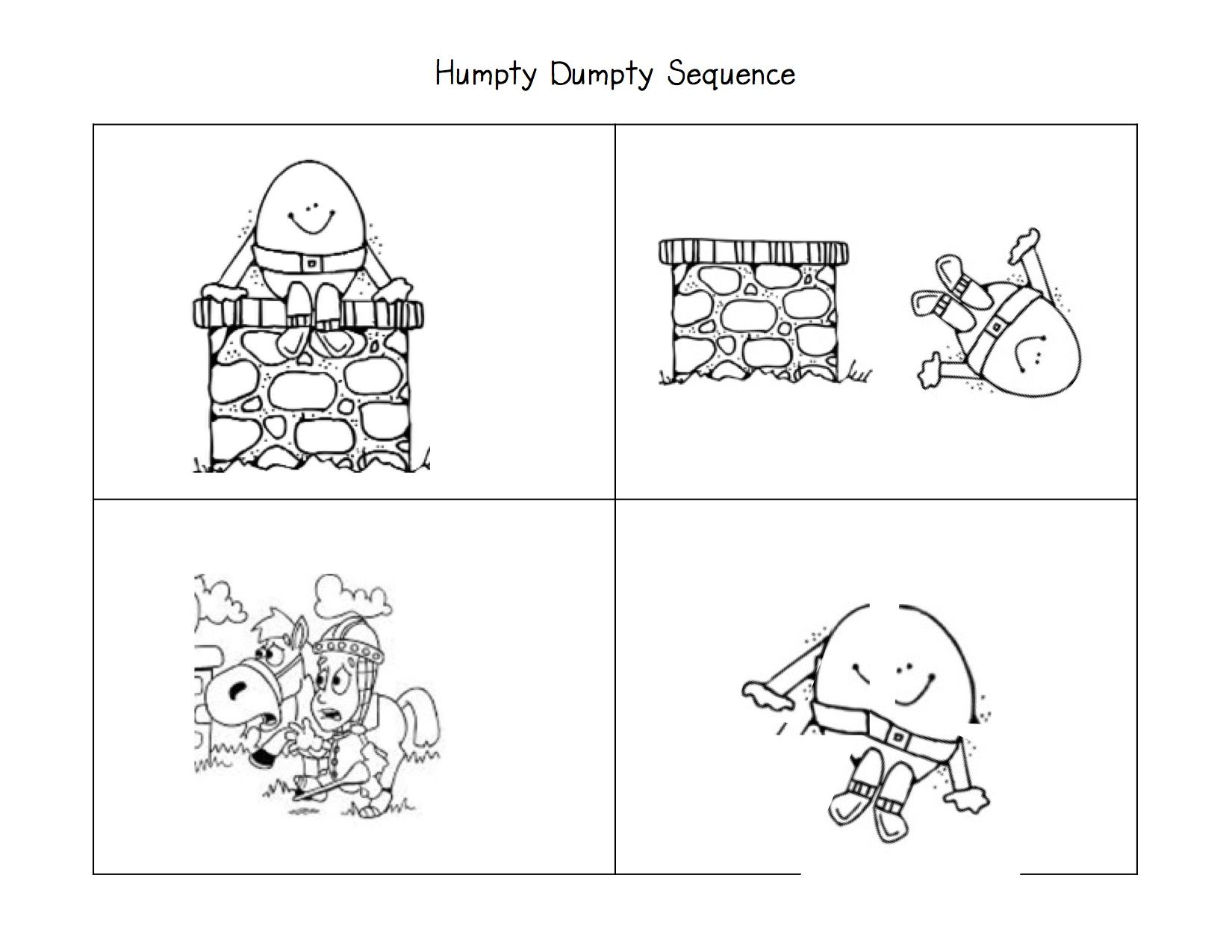 More Fun With Nursery Rhymes! | Literacy: Nursery Rhymes | Nursery - Printable Humpty Dumpty Puzzle