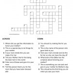 Mother's Day Crossword Puzzle   Printable Crossword Puzzle Of The Day