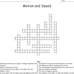 Motion And Speed Crossword   Wordmint   Printable 2 Speed Crossword