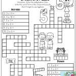 Multiplication Facts Crossword Puzzle  Third Grade Students Love   Printable Crossword Puzzles 3Rd Grade