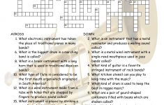 Musical Instruments Crossword Puzzle Worksheet-Esl Fun Games-Have Fun! – Printable Esl Crossword Worksheets