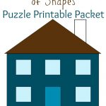 My House Is Made Of Shapes Diy Puzzle Printable Packet : Pre Writing   Printable Puzzle Packet