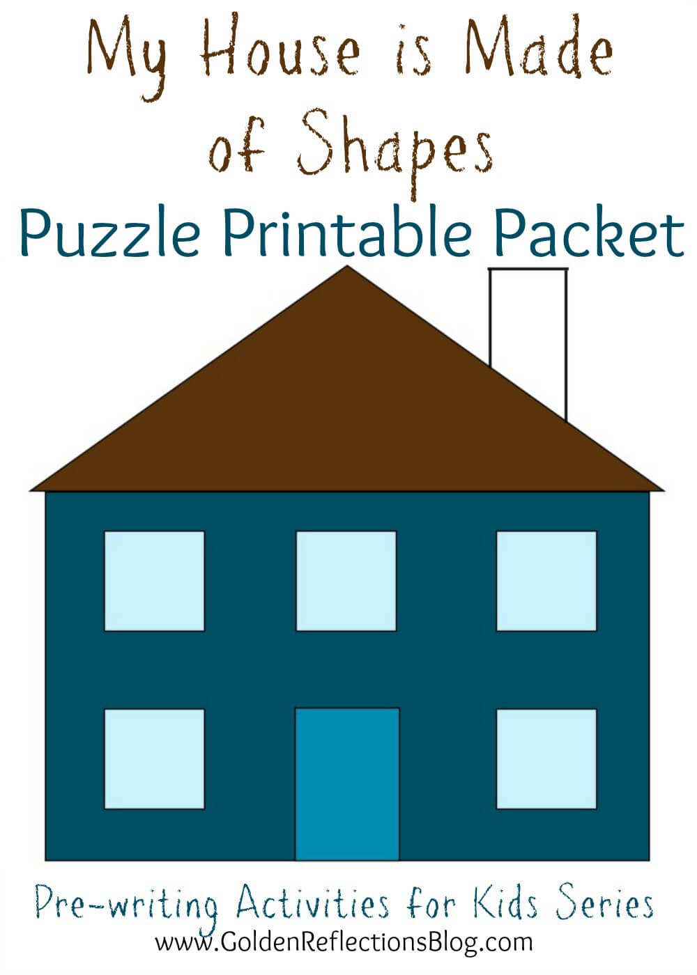 My House Is Made Of Shapes Diy Puzzle Printable Packet : Pre-Writing - Printable Puzzle Packet