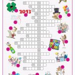 New Year's Eve &day Crossword Puzzle Worksheet   Free Esl Printable   New Year's Printable Puzzles