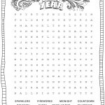 New Year's Printable Activities :: Entertain Your Kids With 4 New   New Year Crossword Puzzle Printable