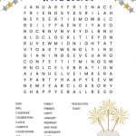New Year's Word Search Free Printable   New Year's Printable Puzzles