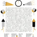 New Year's Word Search Printable   Happiness Is Homemade   New Year Crossword Puzzle Printable