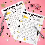 New Year's Word Search Printable   Happiness Is Homemade   New Year's Printable Puzzles
