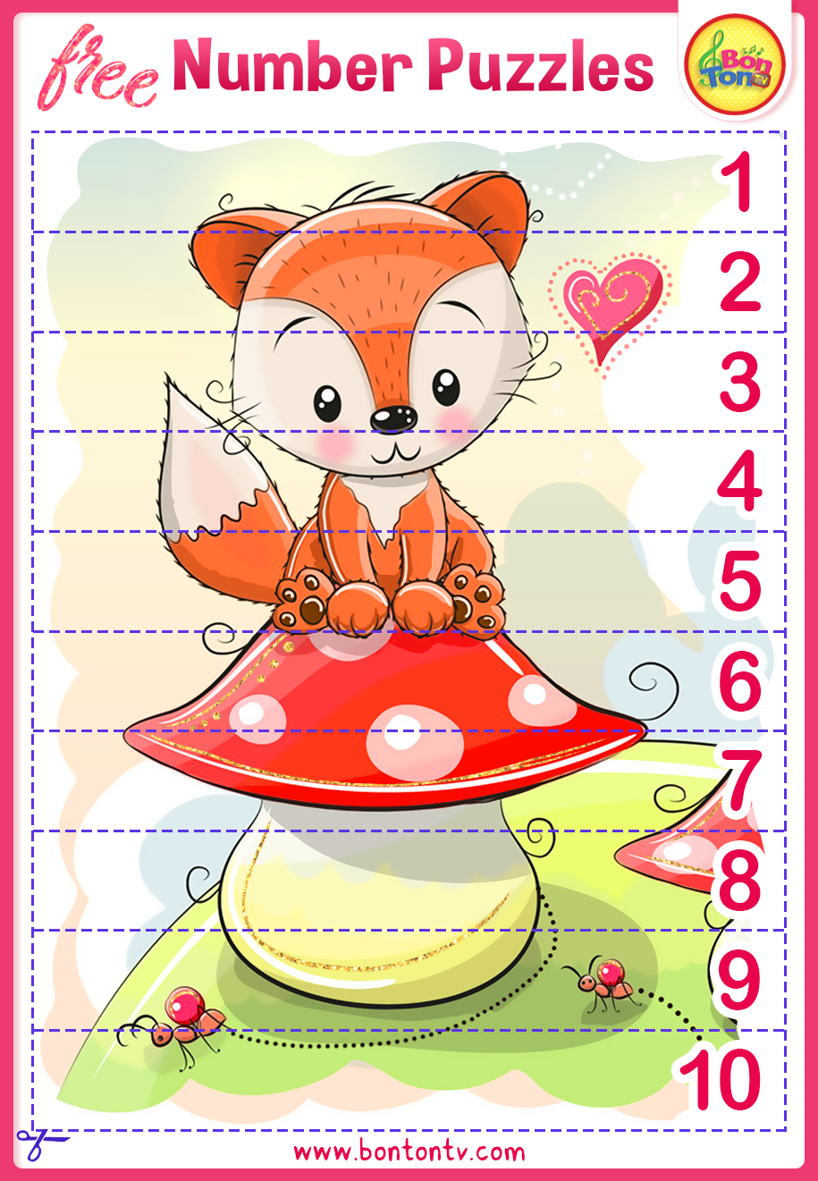 Number Puzzles - Free Preschool Printables For Kids - Bontontv - Printable Puzzles For Preschoolers