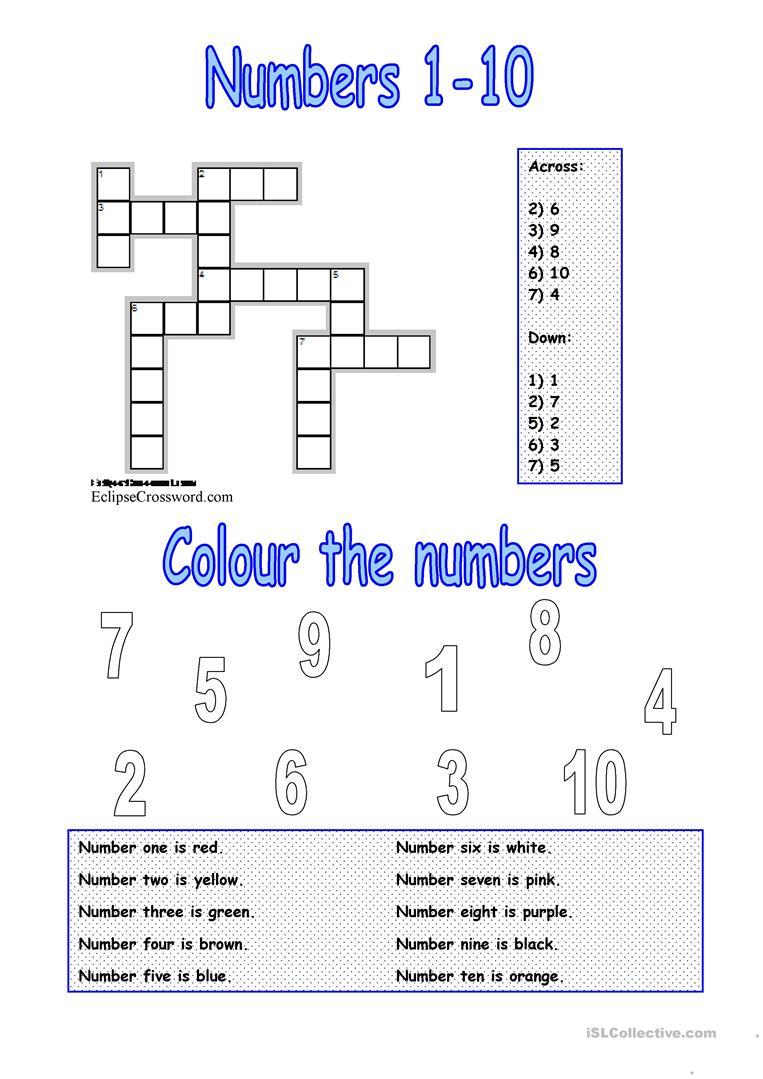 Numbers 1-10 Worksheet - Free Esl Printable Worksheets Madeteachers - Printable Number Puzzles 1-10