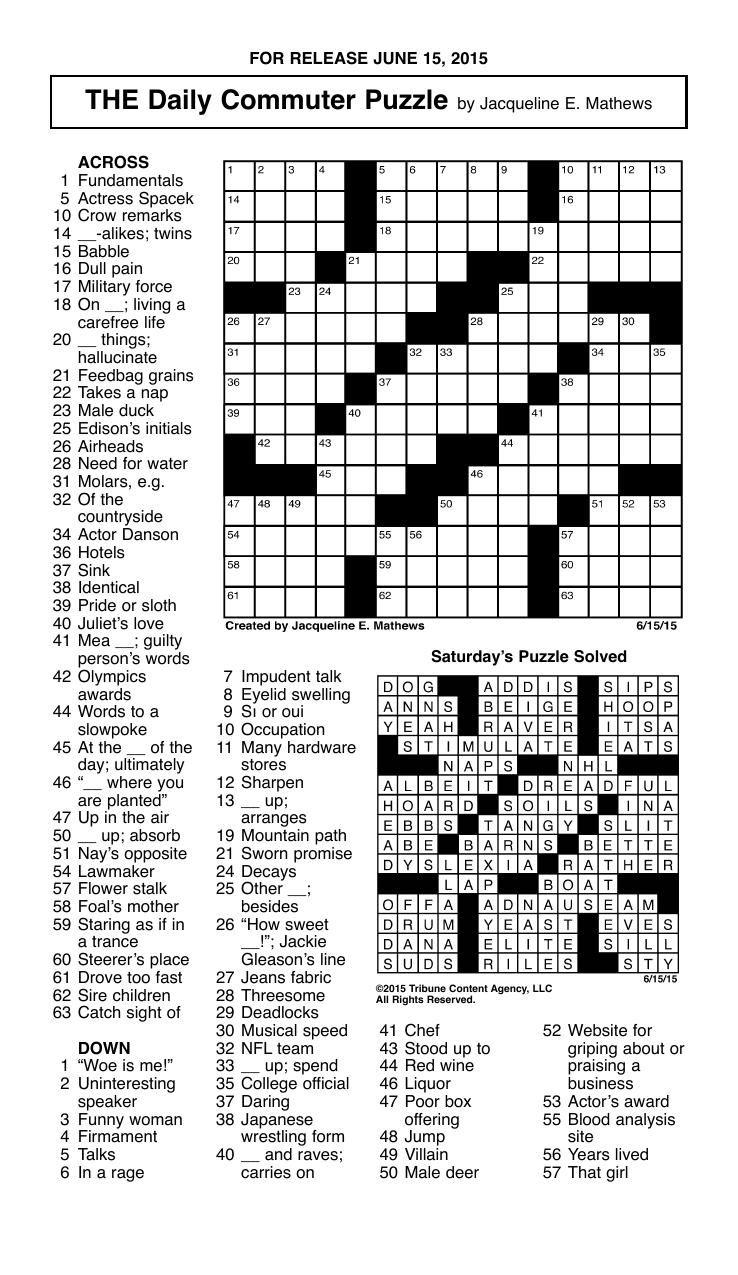 Oui And Si Crossword - Boston Globe Crossword Puzzle Printable