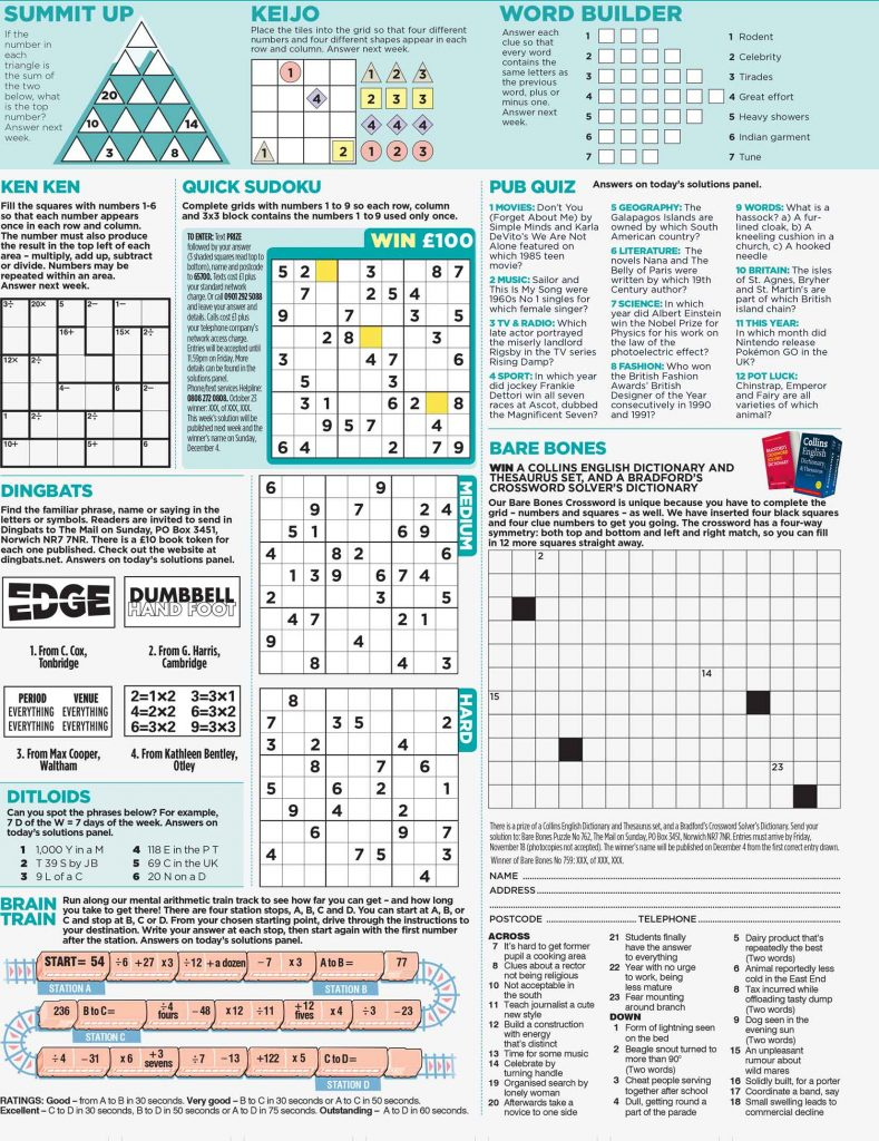 Pa Puzzles - Puzzle Design Experts To Print And Online Media - Printable Newspaper Puzzles
