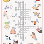 Parts Of The Body Crossword Worksheet   Free Esl Printable   Printable Body Puzzle