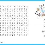 Photo : Baby Shower Crossword Puzzle Image   Free Printable Baby Shower Crossword Puzzle