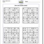 Pindadsworksheets On Math Worksheets | Sudoku Puzzles, Maths   Printable Sudoku Puzzles For 5Th Grade