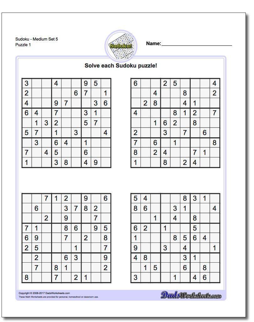 Pindadsworksheets On Math Worksheets | Sudoku Puzzles, Maths - Printable Sudoku Puzzles For 5Th Grade