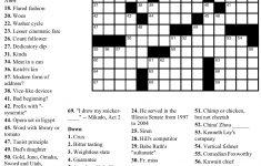 Pinjim Fraunberger On Crossword Puzzles | Free Printable – Free Printable Easy Crossword Puzzles With Answers