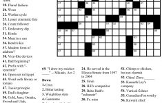 Pinjim Fraunberger On Crossword Puzzles | Printable Crossword – Free Printable Crossword Puzzles Pdf
