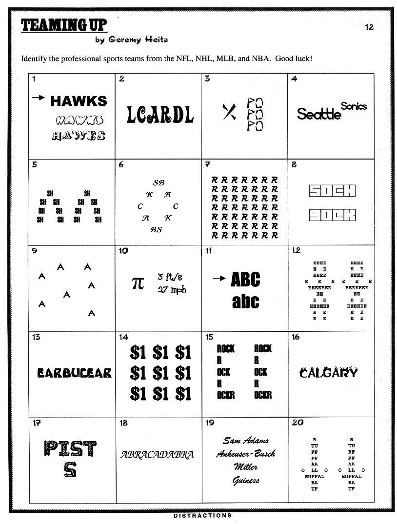 Pinjulie Batchos On Wacky Wordies | Brain Teasers Riddles, Brain - Printable Wordles Puzzles