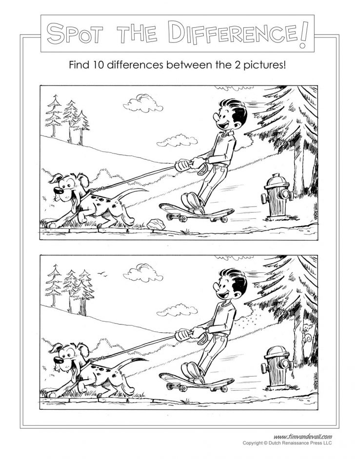 Printable Spot The Difference Puzzle