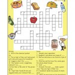Pinthe Kids Cook Monday On Activities | Printable Crossword   Printable Nutrition Crossword Puzzle