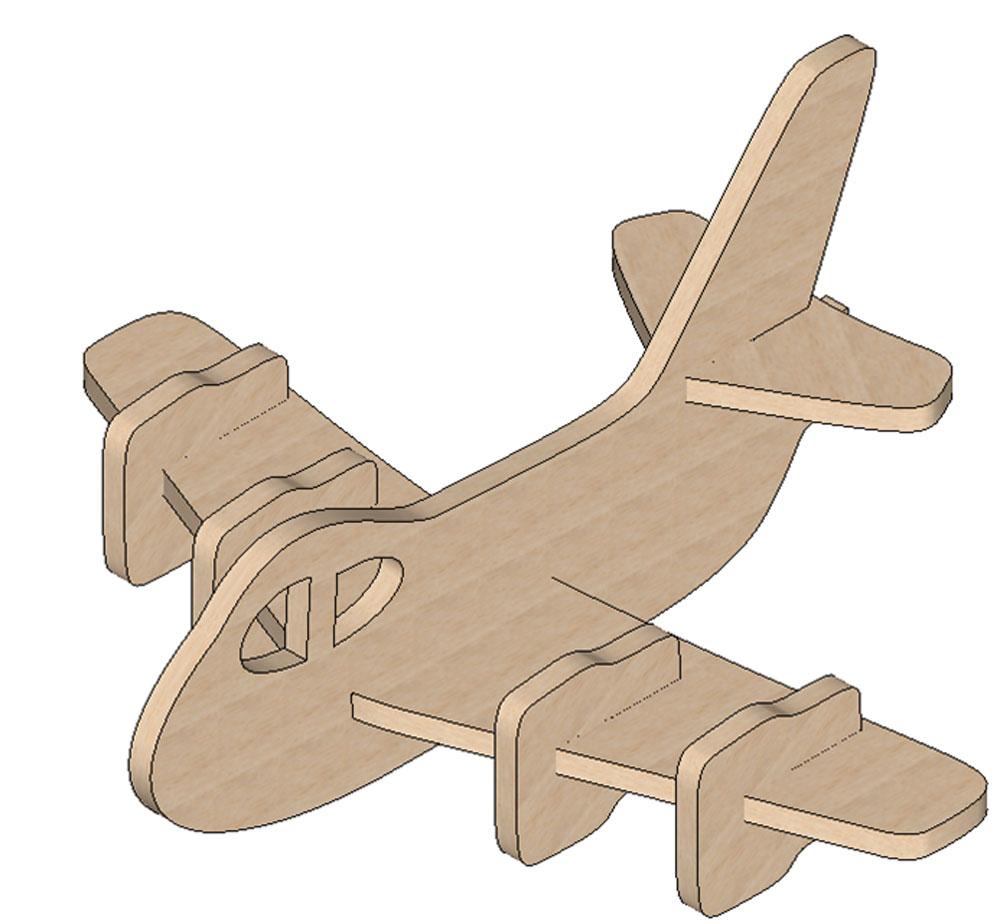 Plane Mini Puzzle - Mini Puzzles | Makecnc - Free Printable 3D Puzzles