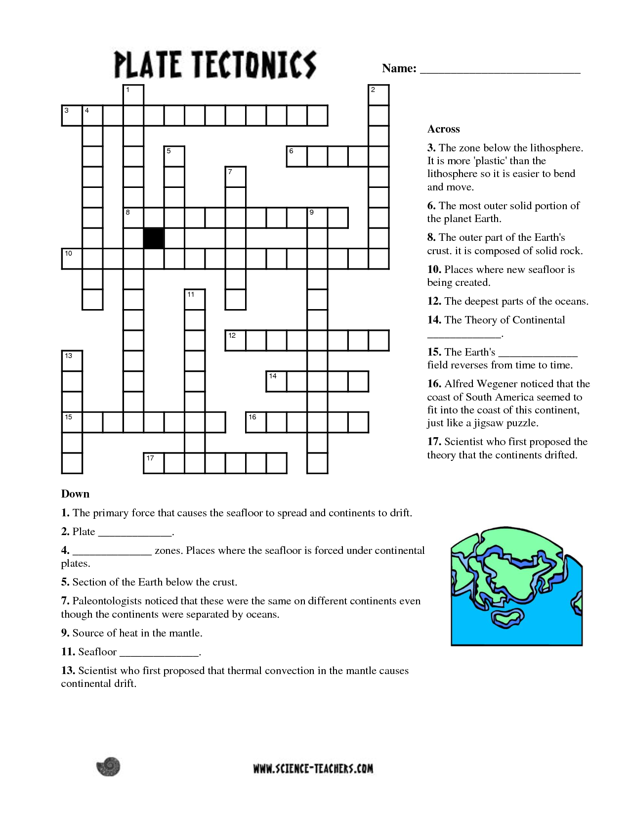 Planets Crossword Puzzle Worksheet - Pics About Space | Fun Science - Printable English Crossword Puzzles With Answers Pdf