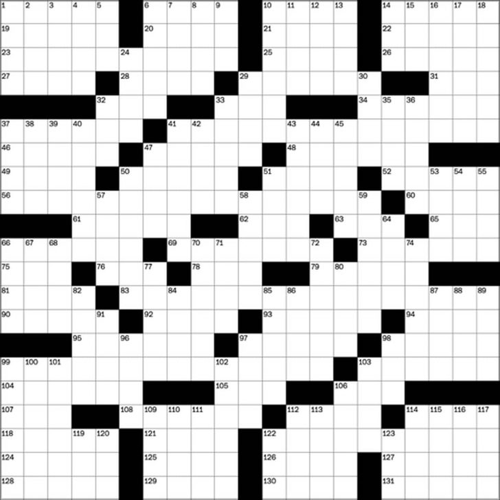 Washington Post Crossword Puzzle Printable