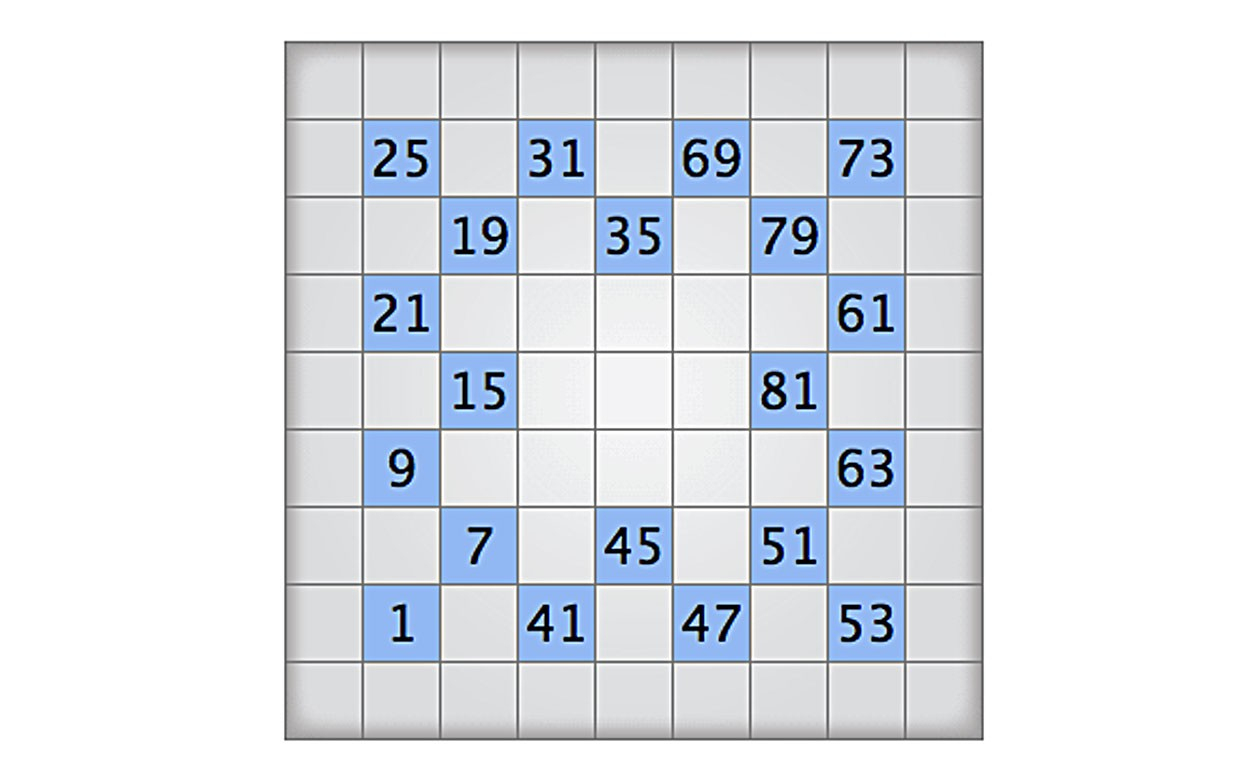Play Today's Numbrix Puzzle - Printable Numbrix Puzzles