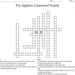Pre Algebra Crossword Puzzle Crossword   Wordmint   Algebra Crossword Puzzle Printable
