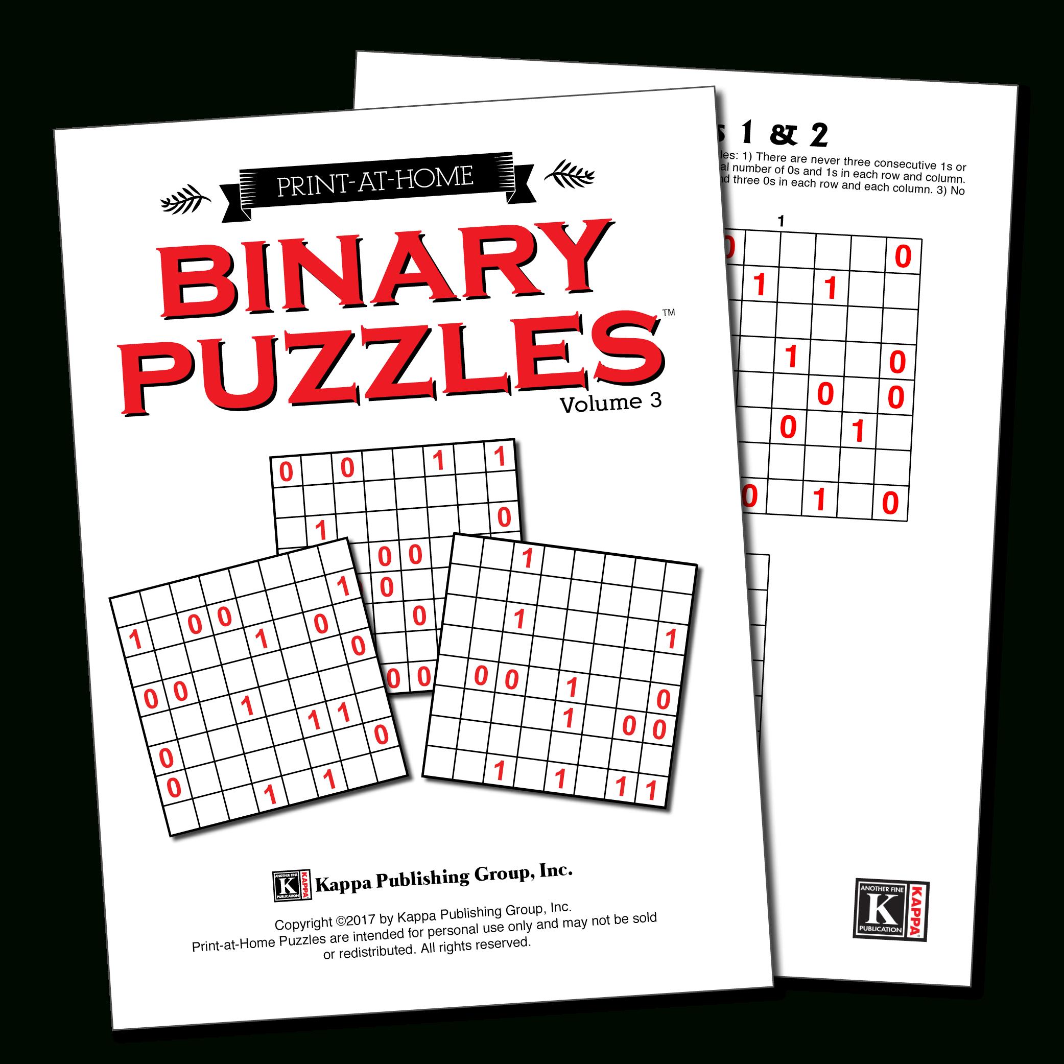 Print-At-Home – Kappa Puzzles - Printable Binary Puzzle