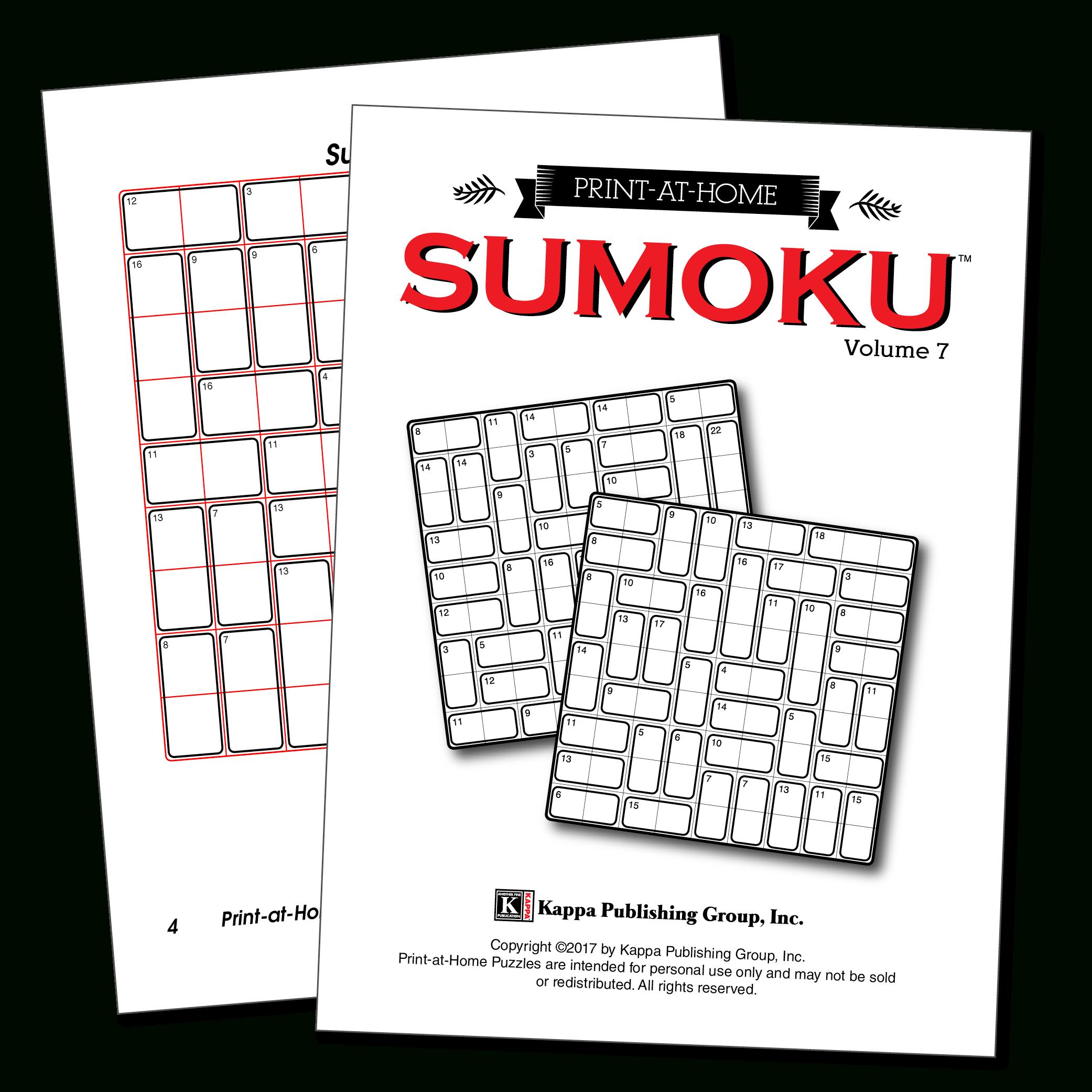 Print-At-Home Sumoku – Kappa Puzzles - Printable Variety Puzzles