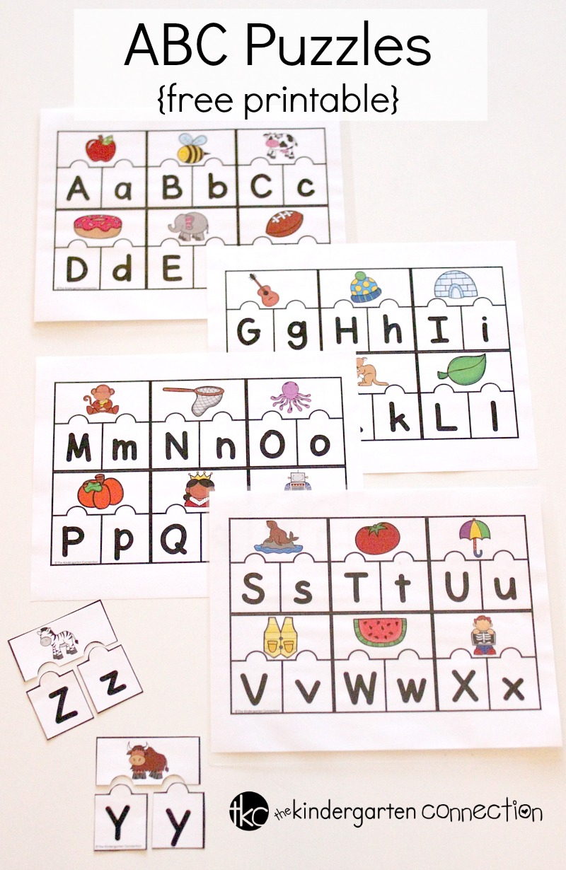 Printable Abc Puzzles For Pre-K And Kindergarten - Printable Kid Puzzles Free