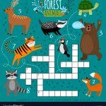 Printable Animal Crossword Royalty Free Vector Image   Printable Animal Puzzle