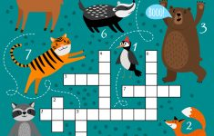 Printable Animal Crossword Royalty Free Vector Image – Printable Animal Puzzle