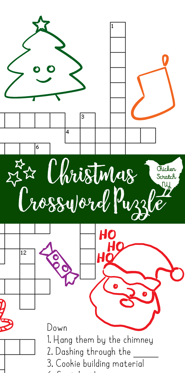 Printable Christmas Crossword Puzzle With Key - Christmas Themed Crossword Puzzles Printable