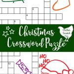Printable Christmas Crossword Puzzle With Key   Printable Santa Puzzle