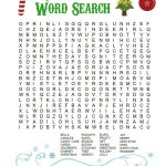 Printable Christmas Word Search For Kids & Adults   Happiness Is   Printable Christmas Puzzle Games